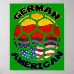 Poster americano alemán del fútbol