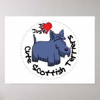 Póster Amo a mis escoceses divertidos y lindos felices
