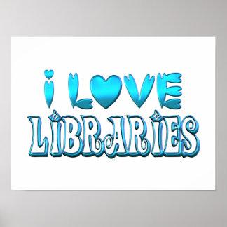 Póster Amo bibliotecas