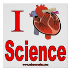 Póster Amo ciencia
