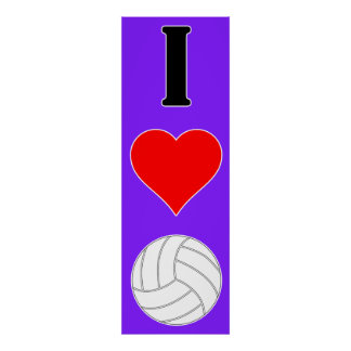 Póster Amo el poster del voleibol del corazón del
