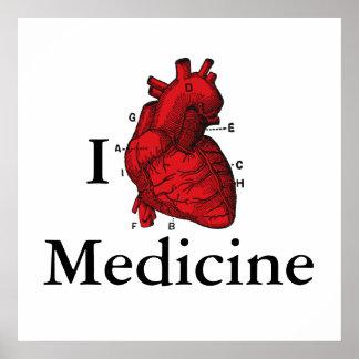 Póster Amo la medicina