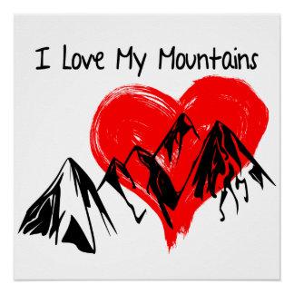Póster ¡Amo mis montañas!