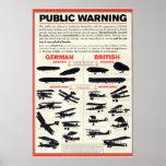 Poster amonestador público de la propaganda WW1