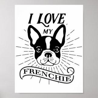 Póster Amor lindo de I mi poster de Frenchie