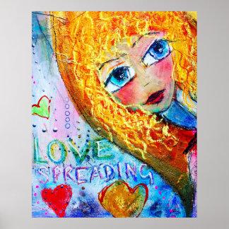 Póster Amor Spreading del poster hermoso '
