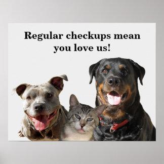 Póster Amor veterinario su poster del chequeo de los