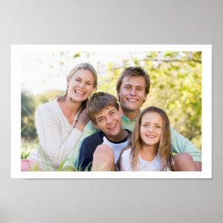 Póster Amor y sonrisa felices de la familia