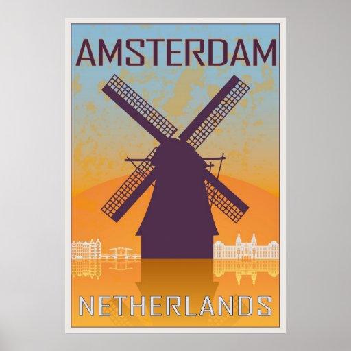 Póster Amsterdam vintage poster