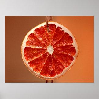 Poster anaranjado hermoso