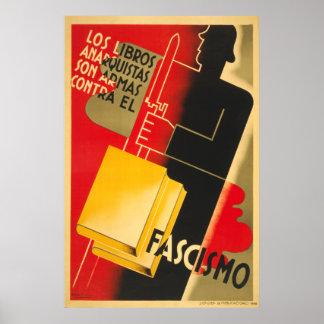 Póster Anarquista de la guerra civil española/poster de