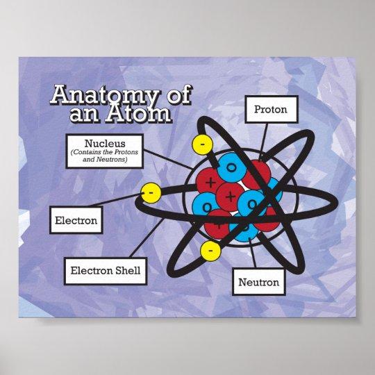 Póster Anatomía de un átomo | Zazzle.es