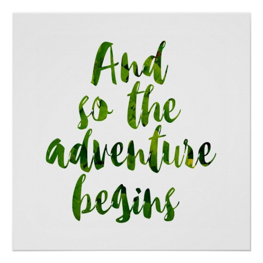 """Póster """"And so the adventure begins"""""""