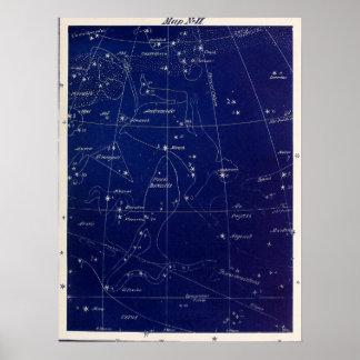 Póster Andromeda y más de las constelaciones