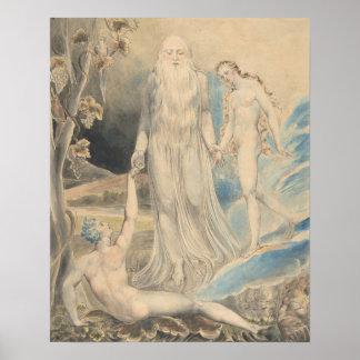Póster Ángel de la presencia divina que trae Eve a Adán