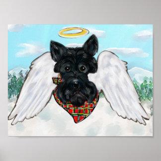 Póster Ángel negro de Terrier del escocés