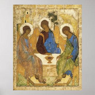 Póster Ángeles en la trinidad de Mamre