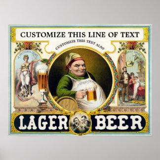 Póster Anuncio 1879 de la cerveza de la antigüedad