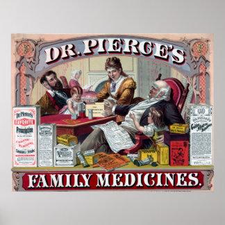 Póster Anuncio del vintage para el poster de la medicina