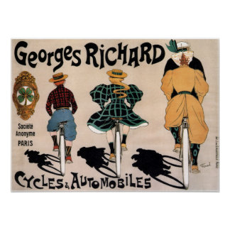 Póster Anuncio francés de la bicicleta del vintage