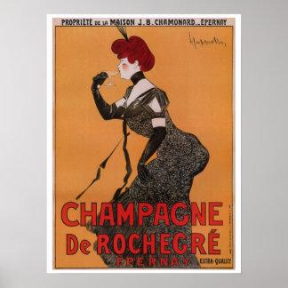 Póster Anuncio francés del champán del vintage del