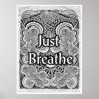 Póster Apenas respire - Quote´s positivo