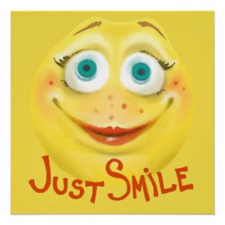 Póster Apenas sonrisa:)
