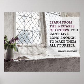 Póster Aprenda de errores de otros