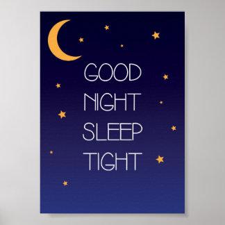 Poster apretado de la cita del sueño de las buenas póster