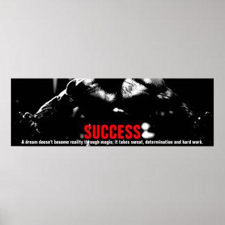 Póster Aptitud del Bodybuilding del éxito inspirada