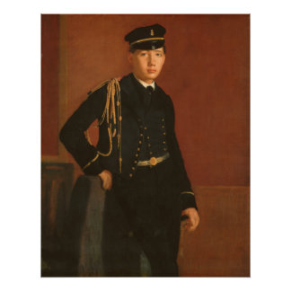 Póster Aquiles De Gas en el uniforme de una pintura del