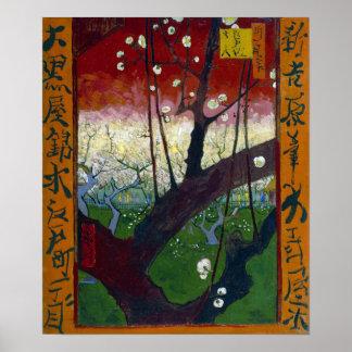 Póster Árbol de ciruelo floreciente de Vincent van Gogh