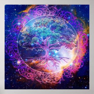 Póster Árbol de la cura de la vida