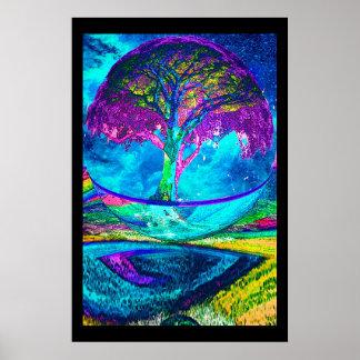 Póster Árbol de la meditación de la vida