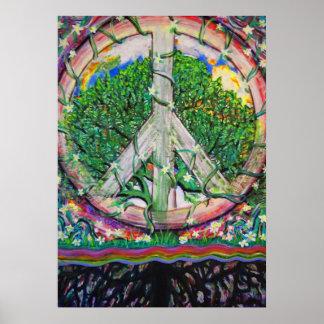 Póster Árbol de la paz de mundo de la vida de Amelia
