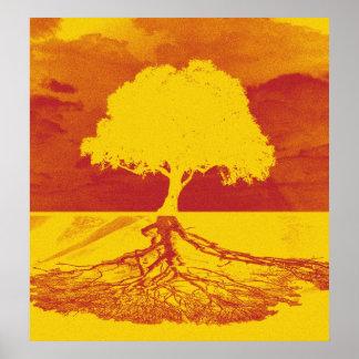 Póster Árbol de la relajación de la vida