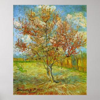 Póster Árbol de melocotón rosado en flor de Vincent van
