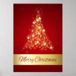 Póster Árbol de navidad que brilla intensamente - poster