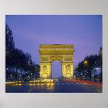 Póster Arco del Triunfo, París, Francia,