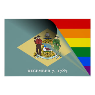 Póster Arco iris del orgullo gay de la bandera de