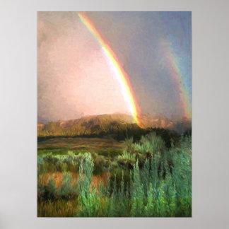 Póster Arco iris doble