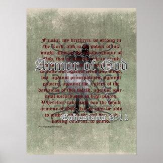 Póster Armadura de dios, 6:10 de Ephesians - 18, soldado