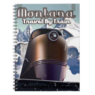Poster Art. del viaje del vintage del tren de Libro De Apuntes Con Espiral