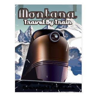 Poster Art. del viaje del vintage del tren de Postal