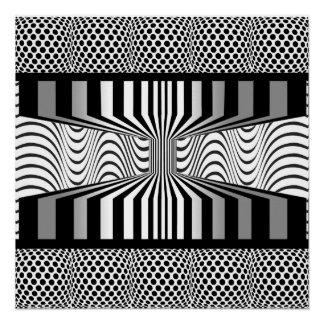 Póster Arte de Op. Sys. de la pared del ojo blanco y