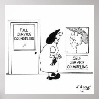 Póster Asesoramiento del dibujo animado 4967