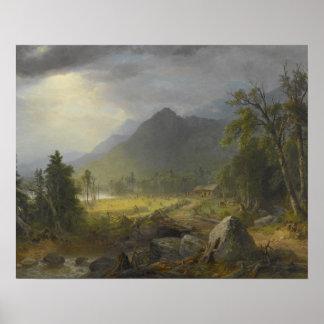 Póster Asher Brown Durand - la primera cosecha