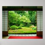Póster Asia, Japón, Kyoto. Jardín 2 del zen