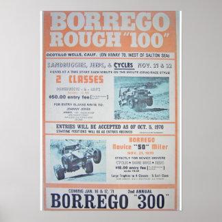 Poster áspero de 100 razas de Borrego Póster