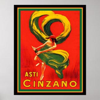 Póster Asti Cinzano por Cappiello 16 x 20